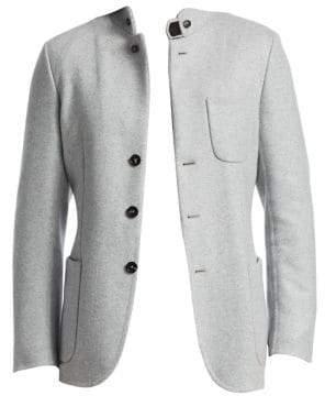 Ermenegildo Zegna Men's Cashmere Double Jacket - Grey - Size 50 (40) R