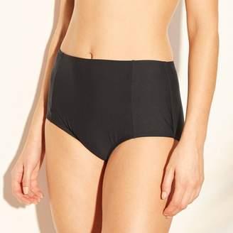Sea Angel Women's High Waist Bikini Bottom - Bordeaux