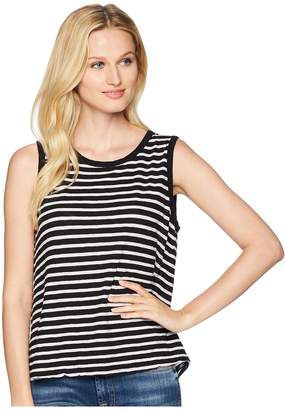 Three Dots Saguaro Stripe Tie-Back Tank Top Women's T Shirt