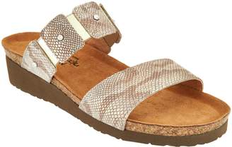 Naot Footwear Leather Double Strap Slide Sandals - Ashley