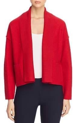 Eileen Fisher Merino Wool Shawl-Collar Cardigan