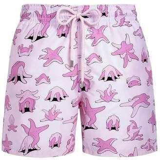 Vilebrequin moorea pink kama sand shorts