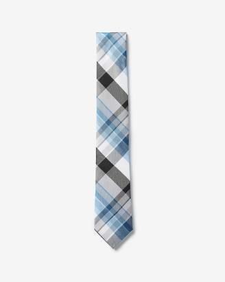 Express Narrow Plaid Print Tie