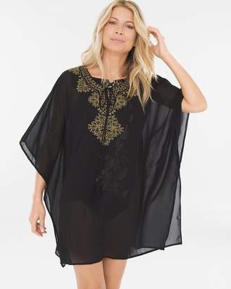 Miraclesuit Petal to the Metal Embellished Swim Cover-Up Caftan