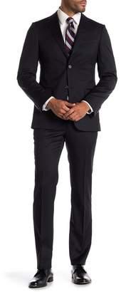 Ermenegildo Zegna Navy Two Button Notch Lapel Classic Fit Wool Suit