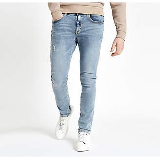 River Island Light blue wash Danny super skinny jeans