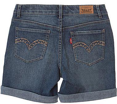 Levi's Creekside Denim Midi Shorts - Girls 4-6x