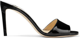 Jimmy Choo Stacey 85 Patent-leather Mules - Black
