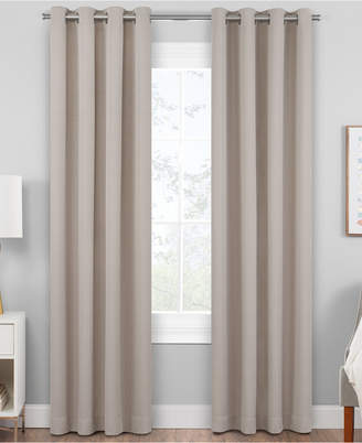 "Hudson Hill Raw Faux-Silk 50"" x 95"" Grommet Window Panel"