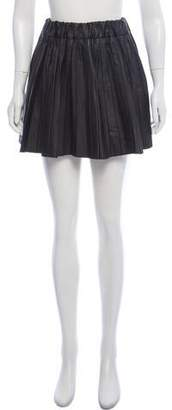 Karl Lagerfeld by Faux Leather Pleated Mini Skirt