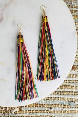 Bohemians Neon Rainbow Tassel Earring