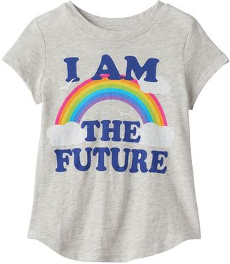 """Toddler Girl Jumping Beans® """"I Am The Future"""" Rainbow Graphic Tee $12.99 thestylecure.com"""