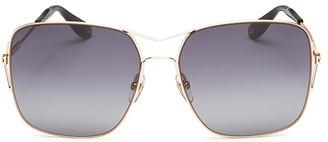 Givenchy Square Aviator Sunglasses, 58mm $375 thestylecure.com