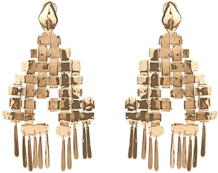 Aurelie Bidermann AURÉLIE BIDERMANN Marella dangling yellow-gold plated earrings