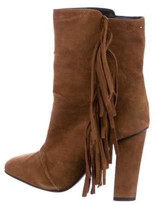 Giuseppe Zanotti Alabama Fringe Ankle Boots Brown Alabama Fringe Ankle Boots