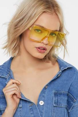 Nasty Gal Eye See How It is Ombre Visor Shades