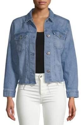 3x1 Frayed Cuff Denim Jacket