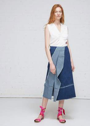 Zero Maria Cornejo Long Denim Foil Skirt