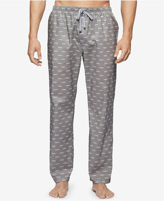 Michael Kors Men's Windowpane Plaid Logo Woven Pajama Pants $42 thestylecure.com