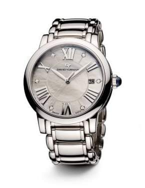 David Yurman Classic 38Mm Stainless Steel Quartz Watch With Diamond