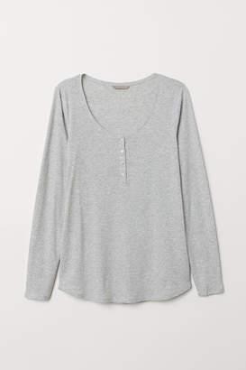 H&M H&M+ Henley Top - Gray