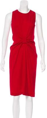 Prada Virgin Wool & Silk Knee-Length Dress