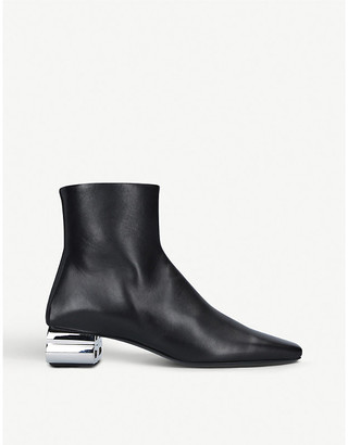 Balenciaga Typo leather heeled ankle boots