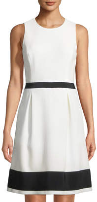 Michael Kors Jackie Grosgrain-Trimmed Sleeveless Dress