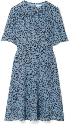 Altuzarra Jae Leopard-print Silk Crepe De Chine Dress - Blue