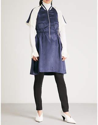 Mo&Co. Satin bomber dress