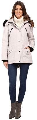Jessica Simpson Anorak Quilted Bonded w/ Hood and Faux Fur Women's Coat