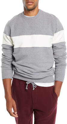 Brunello Cucinelli Men's Chest-Stripe Sweatshirt