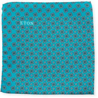 Eton Neat Square Silk Pocket Square