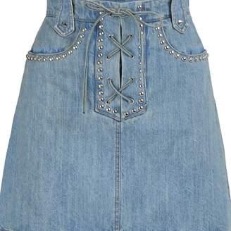 Miu Miu Studded denim skirt