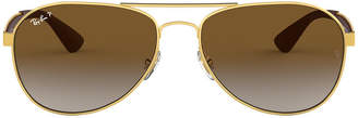 Ray-Ban Rb3549 61 Gold Pilot Sunglasses