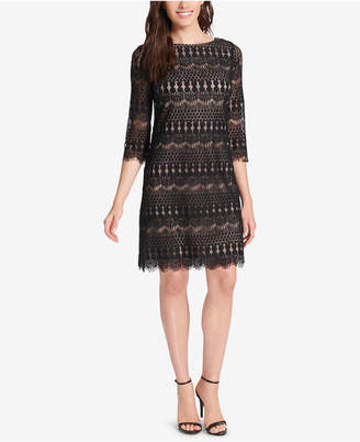 Jessica Howard Petite Illusion Lace Dress