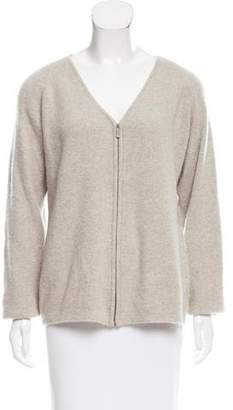 Calvin Klein Collection Cashmere Zip-Up Cardigan