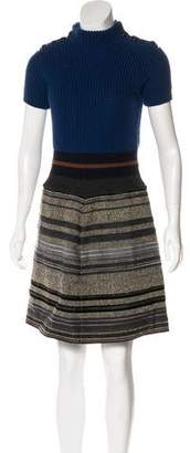 Louis Vuitton Wool-Blend Mini Dress