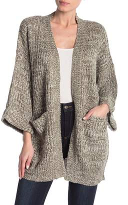 Poof Chunky Knit Open Front Cardigan
