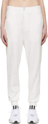 Y-3 Y 3 White Classic Logo Lounge Pants