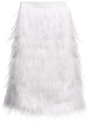 Osman Desiree ostrich feather-embellished midi skirt