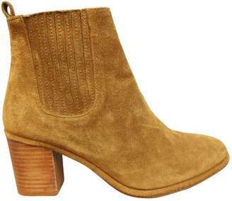 Opening Ceremony Yellow Suede Ankle boots