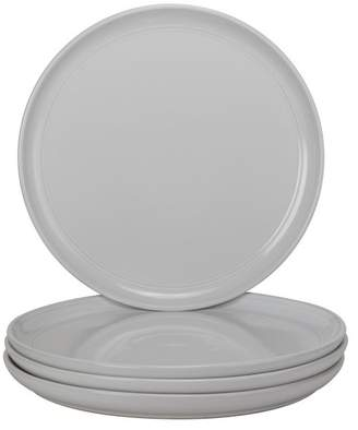 10 Strawberry Street Double Line Dinner Plates, Set of 4