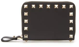 Valentino Rockstud zip-around leather wallet