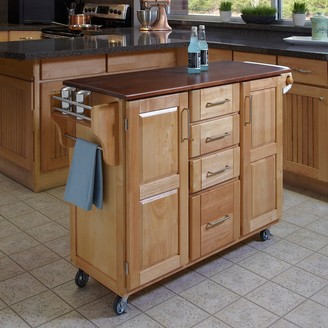 Home Styles Cherry-Top 4-Drawer Kitchen Cart