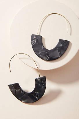 Anthropologie Venita Resin Hoop Earrings