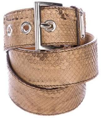 Prada Snakeskin Waist Belt