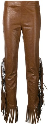 Giamba fringed sides trousers