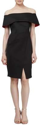 Ignite Off-the-Shoulder Satin Cocktail Dress