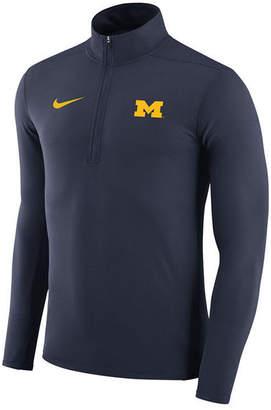 Nike Men's Michigan Wolverines Element Quarter-Zip Pullover